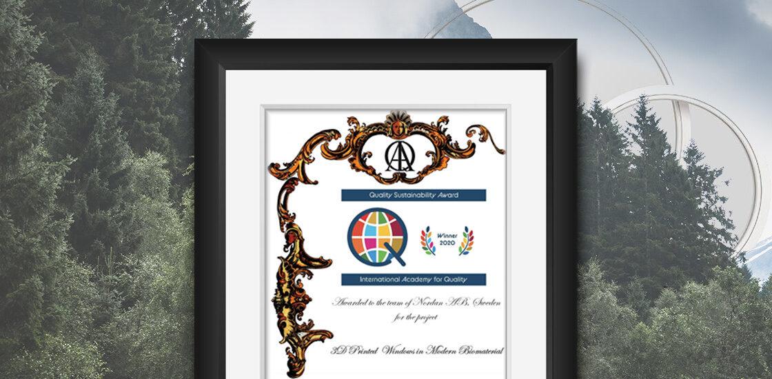 Ndg ndab quality sustainability award 2021